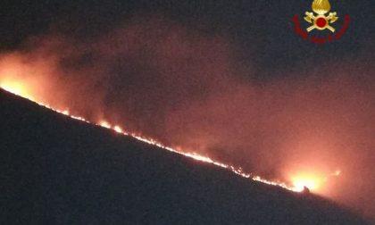 In fiamme il Col Visentin