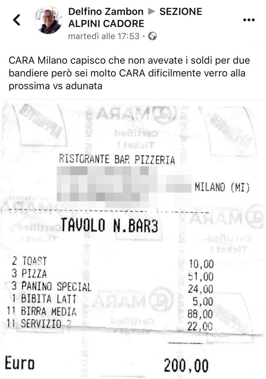 rotesta social per lo scontrino da 200 euro