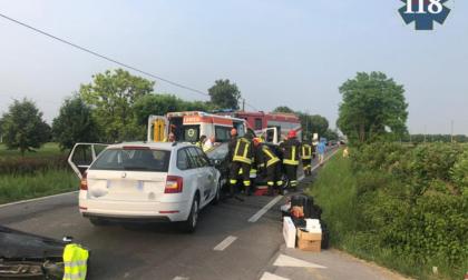 Frontale a Castelfranco, due feriti uno grave