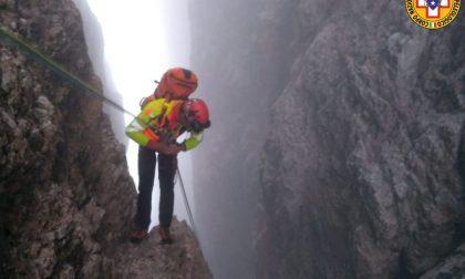 Spettacolare recupero di due alpinisti austriaci