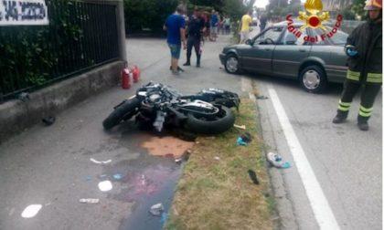 Incidente a Signoressa, grave un motociclista