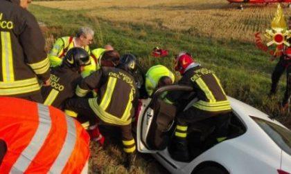 Incidente a Oderzo, auto nel fossato, ferita una donna