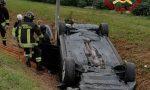 Auto ribaltata a Mogliano Veneto: ferito il guidatore