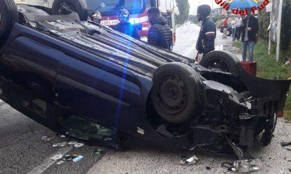 Scontro tra due auto in via Erizzo a Montebelluna
