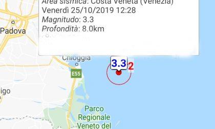 Scossa di terremoto 3.3 a Chioggia