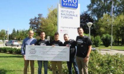 Dal Summer Festival un assegno di mille euro per l'istituto tumori