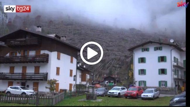 Un anno fa la tempesta Vaia tra Veneto e Trentino VIDEO