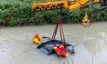 Auto nel fiume Zero a Mogliano, salvi per miracolo gli occupanti