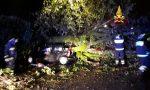 Maltempo: a Castelfranco un albero schiaccia tre auto