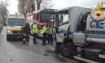 Camion con cisterna di gasolio contro un'auto: tragedia sfiorata