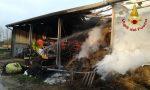 Incendio pagliaio a Ponzano: Vigili del fuoco al lavoro