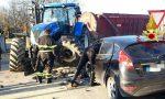 Auto a gpl contro trattore: paura stamattina a Mansuè