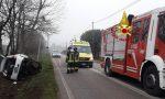 Incidente Povegliano, auto fuori strada: giù anche il palo della luce