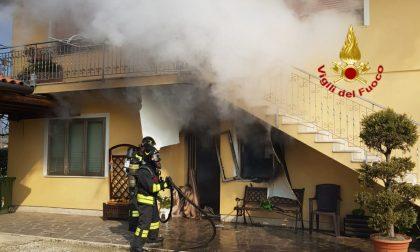 Appartamento distrutto dalle fiamme a Quinto di Treviso