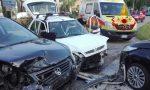 Incidente Monastier, tre auto coinvolte: conducente incastrato estratto dai Vigili del fuoco
