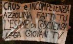 """Lega Giovani, striscioni anche a Treviso contro Azzolina: """"Esami? Si faccia quello di coscienza"""""""