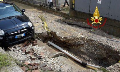 Bomba d'acqua a Valdobbiadene e Pederobba, una decina di interventi