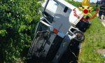 Sernaglia della Battaglia, furgone fuori strada: due feriti