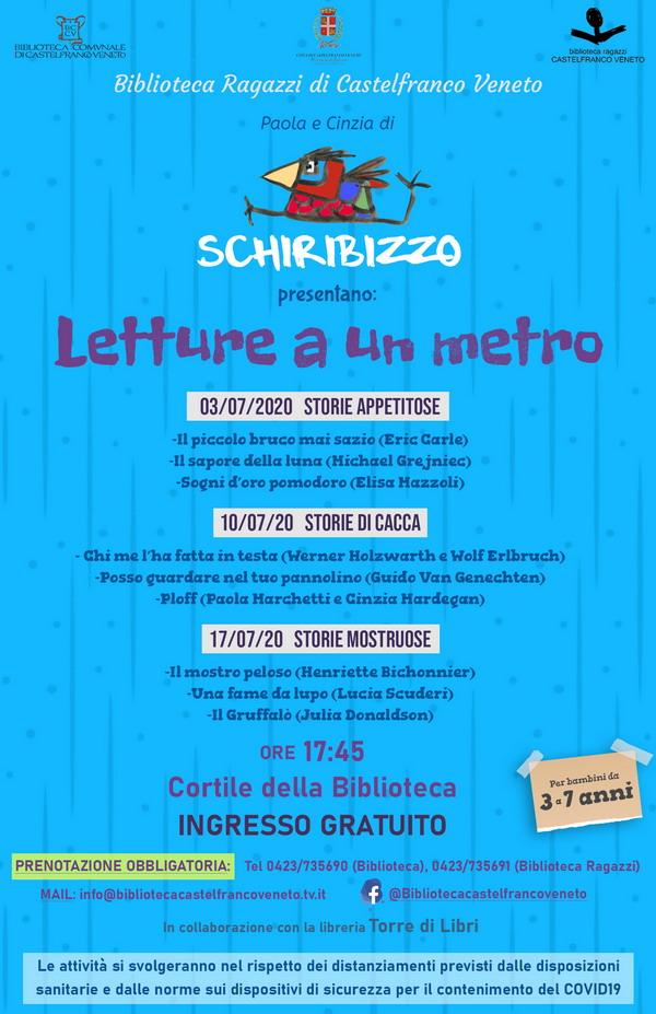 """Biblioteca Ragazzi Castelfranco, a luglio le """"letture a un metro"""""""
