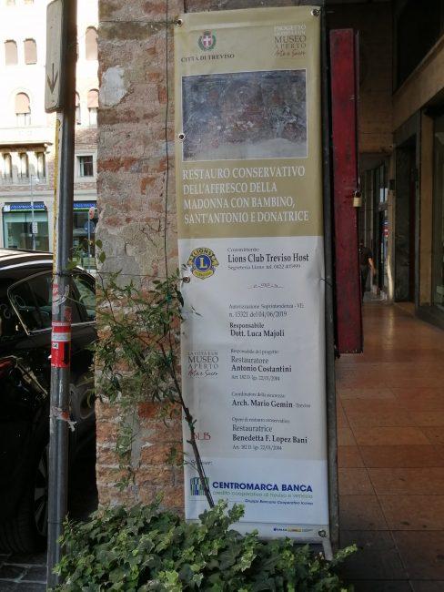 Restauro affresco a Treviso, alla fine scoperta opera della scuola di Tiziano - FOTO