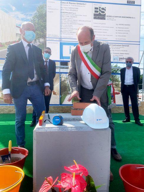 Casa di riposo Umberto I: posata la prima pietra per la costruzione della nuova ala - FOTO