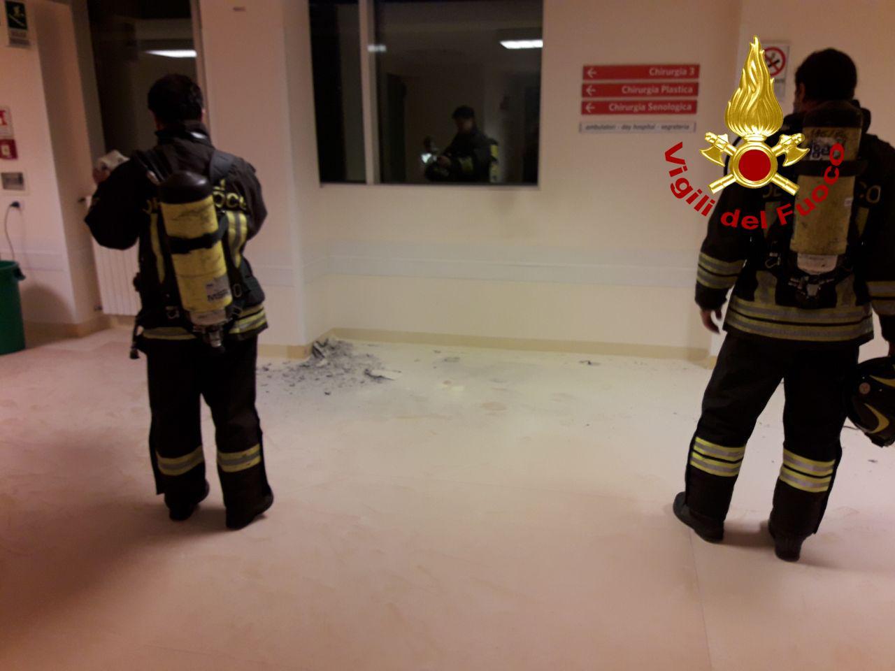 Ca' Foncello, l'incendio appiccato da un 58enne senza fissa dimora!