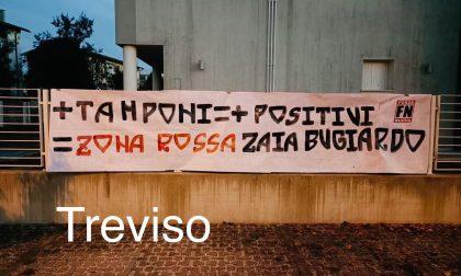 """Forza Nuova, striscioni anche a Treviso contro il pericolo zona rossa: """"Zaia bugiardo"""""""