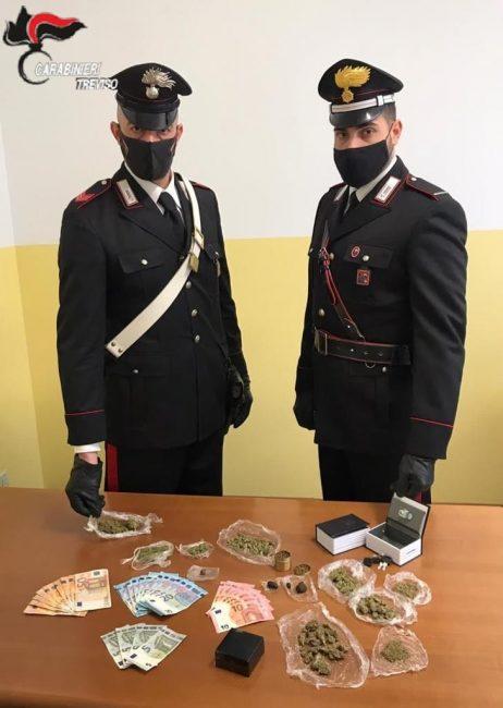 Carabinieri Zero Branco, denunciato per spaccio 25enne di Mogliano Veneto