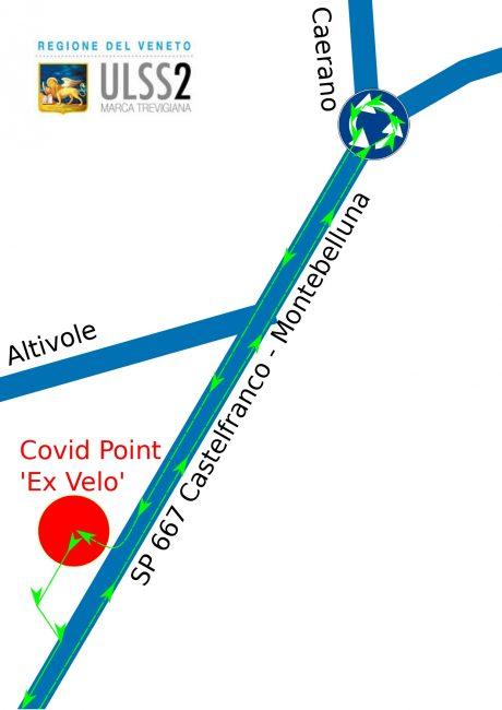 Covid Point Altivole, modificata la viabilità di accesso - CARTINA