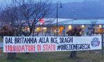 Striscione contro Mario Draghi a Vittorio Veneto