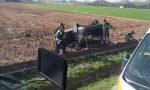 Grave incidente sulla Postumia, ferito estratto dalle lamiere dell'auto rovesciata