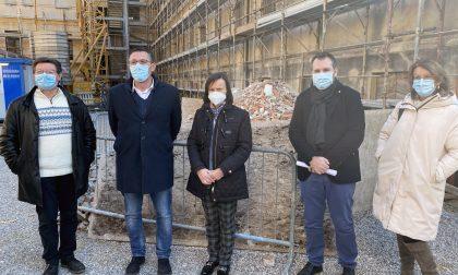 Lavori in corso al Liceo Flaminio di Vittorio Veneto, il sopralluogo di Marcon
