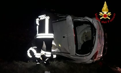 Fuori strada con l'auto a Istrana, un ferito: era in forte stato di alterazione