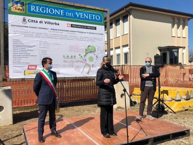 Riqualificazione e messa in sicurezza dell'attraversamento di Catena, avvio dei lavori con l'assessore regionale De Berti