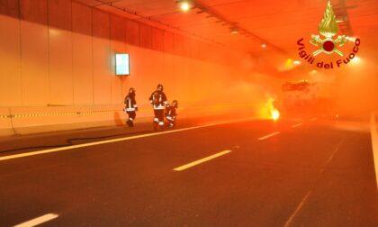 Superstrada Pedemontana, simulato l'incidente in galleria e il blocco del traffico