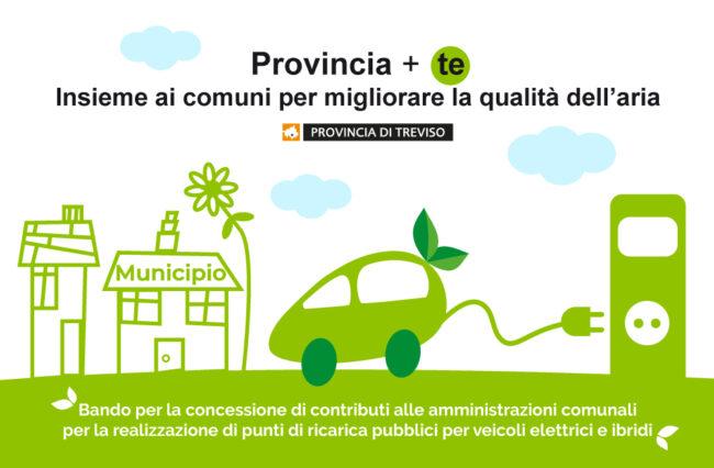 Colonnine per auto elettriche: la Provincia stanzia 280mila euro per i comuni trevigiani