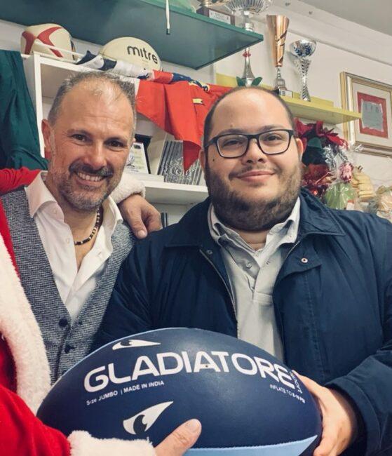 Stefano Villanova, Presidente del Rugby Montebelluna Junior e assessore Claudio Borgia