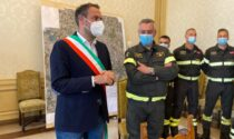 Attestato di ringraziamento ai Vigili del fuoco di Treviso per l'intervento in una palazzina di via Pennacchi