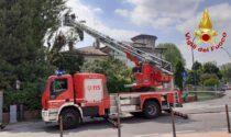 """Il pioppo di 18 metri si """"appoggia"""" sulla casa: rimosso dai Vigili del fuoco"""
