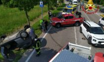 Vittorio Veneto, scontro tra due auto: un ferito estratto dalle lamiere