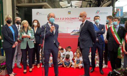 Foto e video dell'inaugurazione della nuova linea elettrificata Conegliano-Belluno