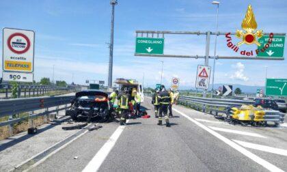 Incidente in A28, chiusa la corsia verso Conegliano: disagi alla viabilità
