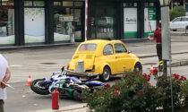 Incidente a Castelcucco: moto contro auto, feriti due ragazzi