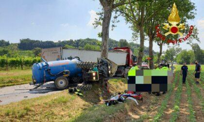 Susegana, scontro tra camion e trattore: un ferito