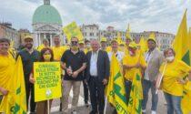 Emergenza cinghiali in Veneto: le foto degli imprenditori agricoli trevigiani al flash mob di Venezia