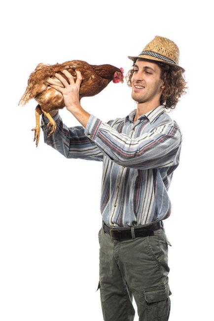 Simone Bazzali, 26enne di Feltre, imprenditore agricolo