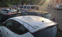 Temporale nella Castellana, danni alle abitazioni e alle automobili