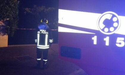 Incendio a Caerano San Marco: calore e fumo hanno interessato 11 box e 8 auto