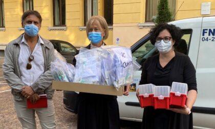 """Tamponi salivari nelle """"scuole sentinella"""": consegnati al Cerletti i primi 134 kit"""