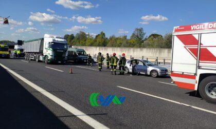 Passante di Mestre, incidente tra auto e camion: un ferito grave e traffico difficoltoso